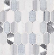 MSI 12 x12 Harlow Picket 8mm Glass Mosaic Tile BACKSPLASH KITCHEN BATH