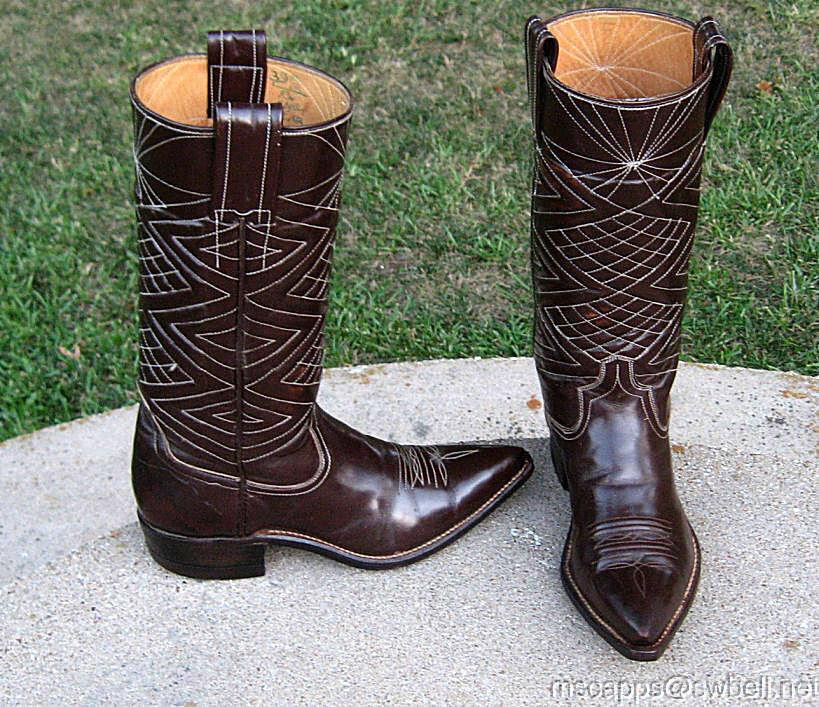 Cowgirl occidental Marrón botas Damas 5'B