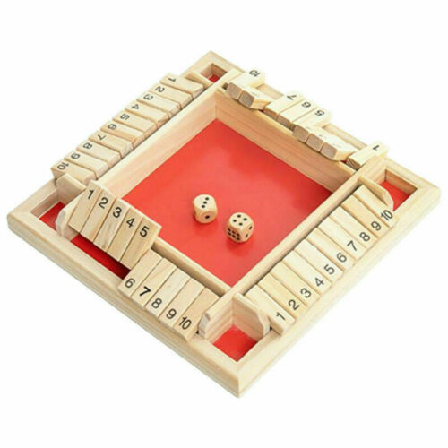 Shut the Box Game Wooden Board Number Drinking Dice Favor Kids Toy Funny NEW