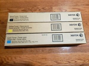 3-New-Xerox-Toner-Cartridges-006R01222-006R01220-006R01219-Yellow-Cyan-Black