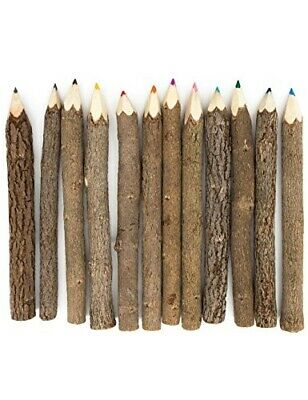 Stick Twig Colored Outdoor Wooden Pencils Tree Child Camping Decorative Wood New
