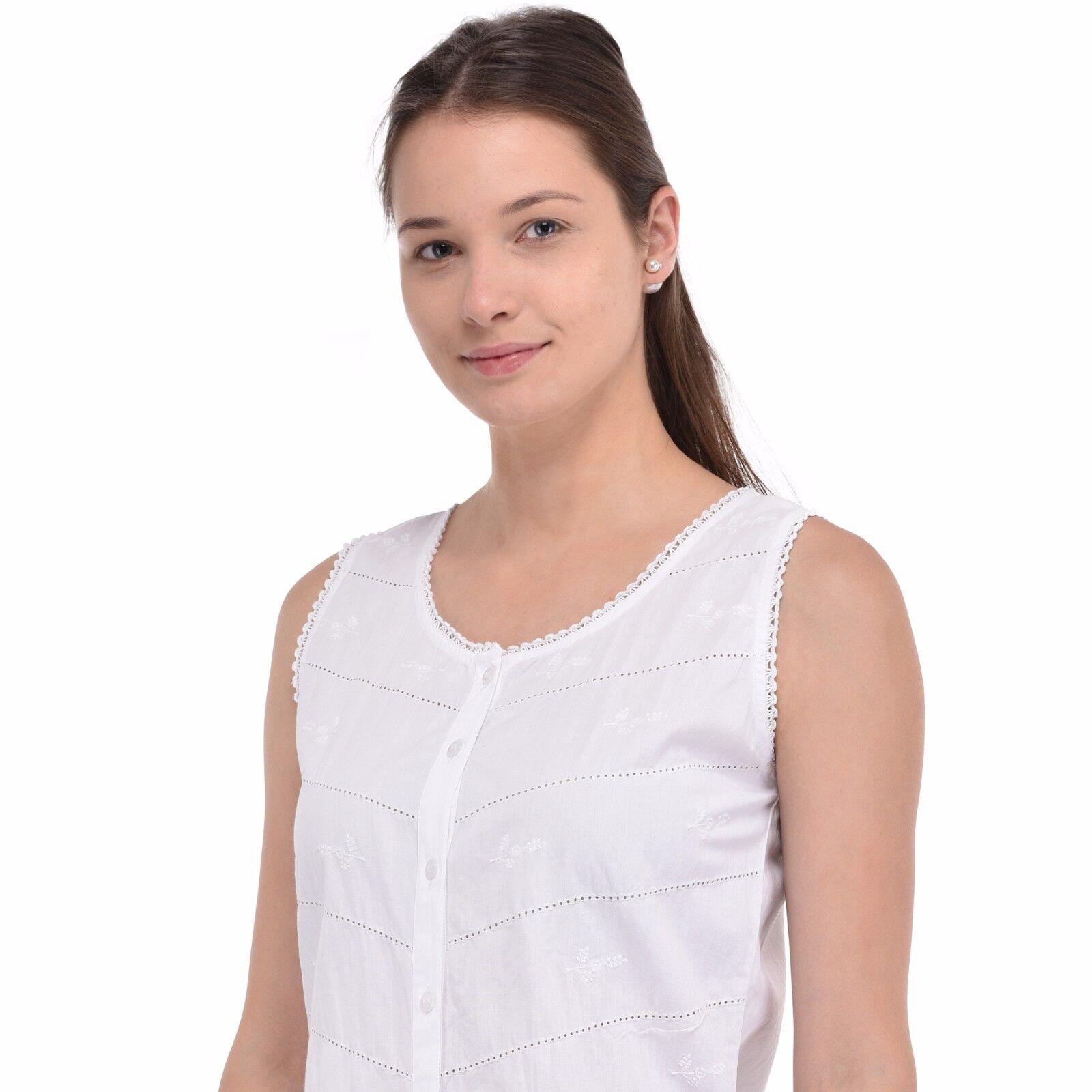 Para mujer de de de TOP de algodón blancoo   Algodón Lane c731bf