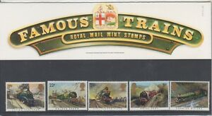 GB-1985-FAMOUS-TRAINS-PRESENTATION-PACK-159-SG1272-1276-MINT-STAMP-SET