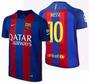 hot sale online c4be2 ededd Details about NIKE LIONEL MESSI FC BARCELONA HOME YOUTH JERSEY 2016/17  QATAR.
