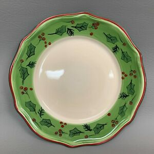 Dining-Style-Dinner-Plate-Green-Band-Holly-Berries-11-034