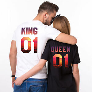4360957e58 Image is loading King-Queen-Summer-Shirts-Vacation-Sunset-Pattern-Matching-