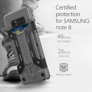 promo code 74eae 2854a Samsung Galaxy Note 8 [Slim Armor] Card Holder Case Shockproof Stand ...