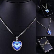 Kette Halskette *Herz des Ozeans Titanic* Weißgold pl, Swarovski Elements, +Etui