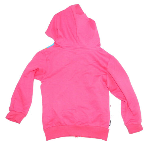 Frozen Girls Hoodie Cardigan Pink Elsa Anna Top Kid Winter Jacket Cotton 1-8y