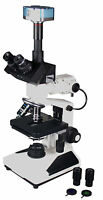 2000x Professional Trinocular Metallurgical Microscope w Bottom Light 3Mp Camera