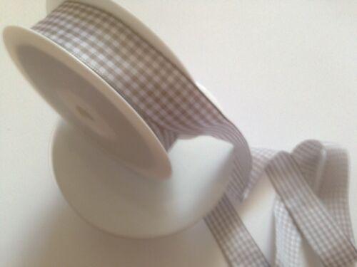 15 Tonos Preciosa Guinga Cinta Blanco y a cuadros 25mm-Varios Largos