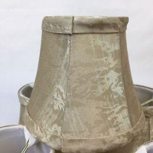 Cream With Cream Silk Bell Chandelier Lamp Shade, 3x6x5