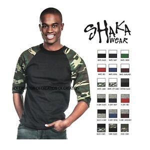 Shaka-Wear-Casual-Raglan-Tee-Baseball-T-shirt-3-4-Sleeve-Crew-Neck-Shirts