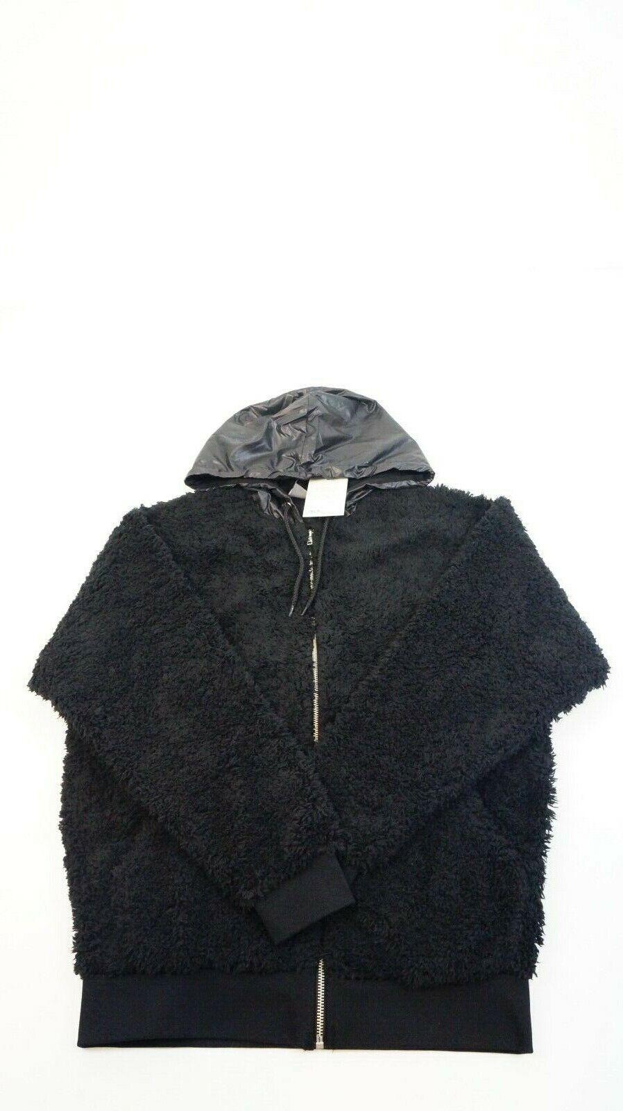 Asos Oversized Borg Zip Hoodie Damen Kapuzen Pullover schwarz Gr. XS NEU #K437