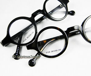 4ef591ebe2 Men women Eyeglass frame 37mm small round retro optical acetate ...