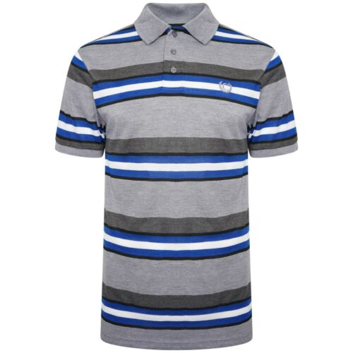 New Mens Polo T-Shirts Striped Pique Short Sleeve Collared Tee Top Sports Casual