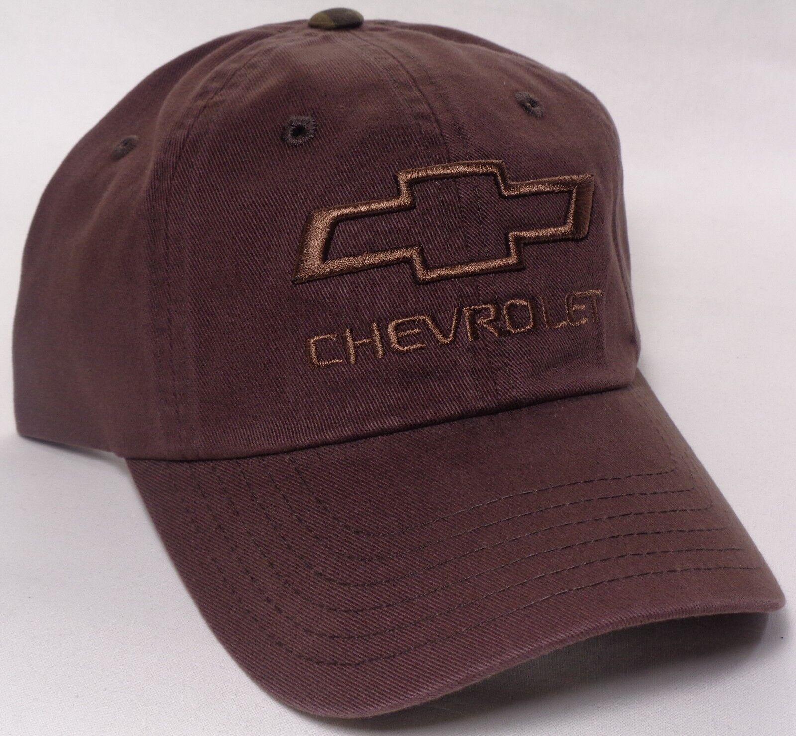 Hat Cap Chevrolet Chevy Brown Bowtie Camo Army Brown Chevy CF ba05d2