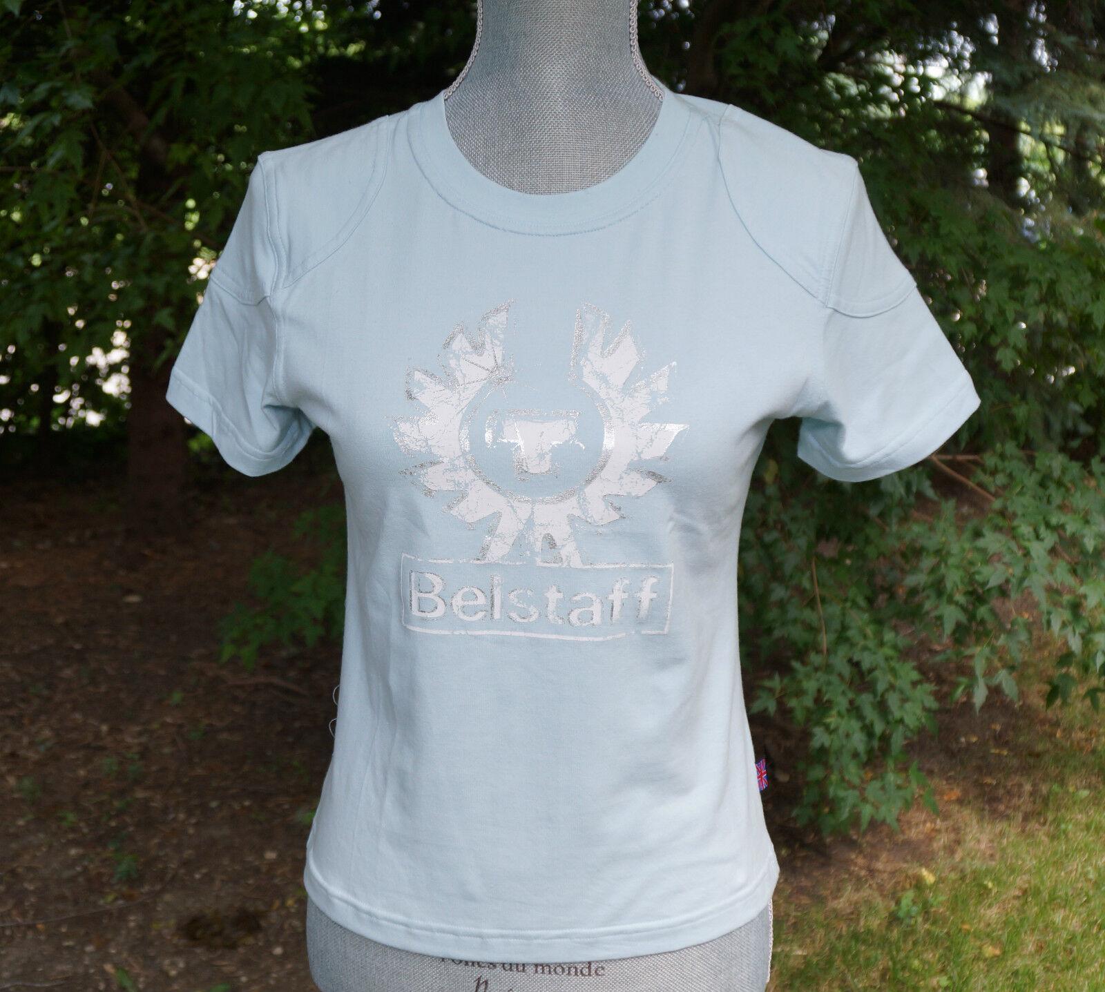 Authentic Belstaff Logo T-shirt Short Sleeve T Shirt Größe New Crewneck NWT
