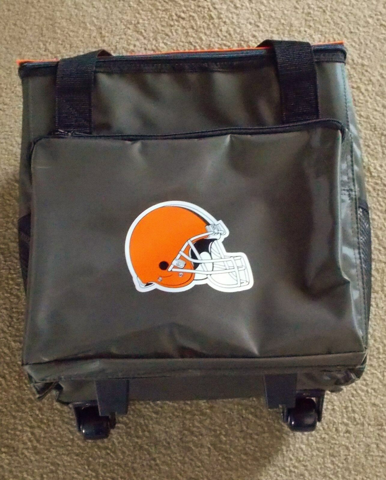 ROLLING CLEVELAND BROWNS INSULATED COOLER  ON WHEELS GAME DAY TAIL GATE PARTY  sale online discount