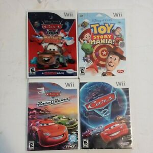 Nintendo Wii Disney Pixar TOY STORY MANIA CARS  Lot TESTED Wii 4 Video games