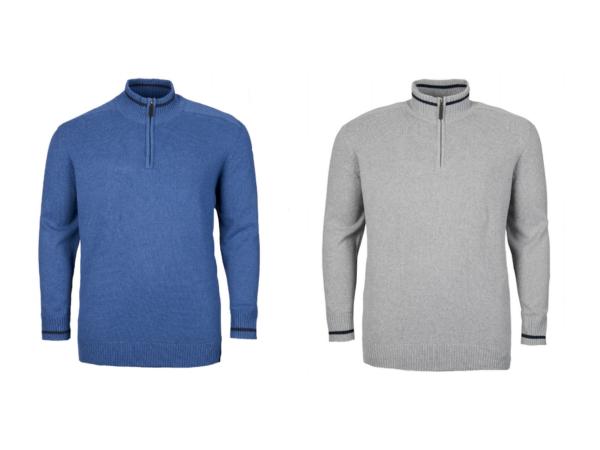 100% Verdadero Nuevo Señores Identic 1/4 Zip Suéter Jersey De Punto Suéter-talla 3xl, 4xl, 5xl, 6xl-ver