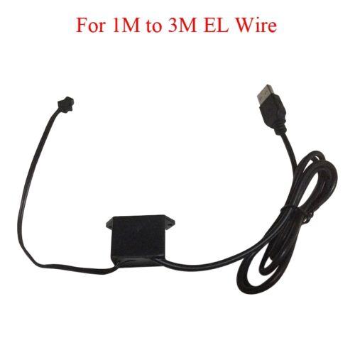 USB 5V 1A Power Inverter DC Regulator for EL Wire Electroluminescent New