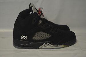 cheap for discount 85161 53be6 Image is loading Nike-Air-Jordan-5-V-Retro-Black-Varsity-