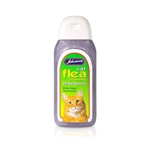 Johnsons Cat Flea Wash Bath Shampoo Treatment for Cats Kittens Cleansing Fleas