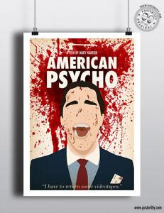 Original American Psycho Movie Minimalist Art Print