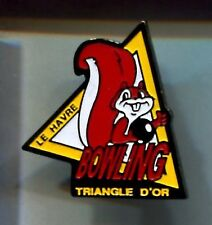 RARE PINS PIN'S .. ANIMAL  ECUREUIL SQUIRREL BOWLING LE HAVRE 76 ~A1