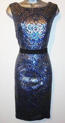 BNWoT Myleene Klass Silver Sequin Embellished Bodycon Evening Occasion Dress 10