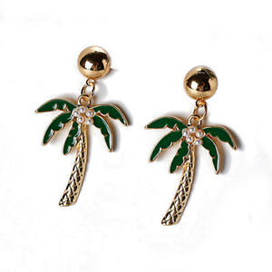 Image Is Loading 1pair Coconut Tree Earrings Palm Ear Rings