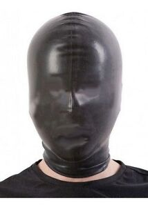 Pipe 109c Latex Mask Rubber Hood with Mouth Tube Made in UK BLACK