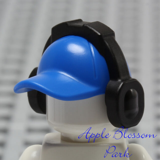 b0c0117be6d NEW Lego Minifig BLUE BASEBALL CAP - Sports Hat Head Gear w Music Ear Phones