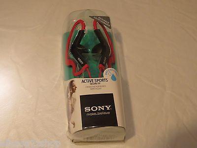 Sony Active sports secure fit water resist LOOP hanger buds ear pink headphones