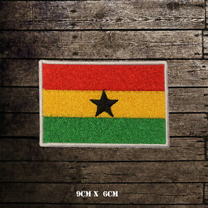 GHANA-Flag-Embroidered-Iron-On-Sew-On-Patch-Badge-For-Clothes-Etc