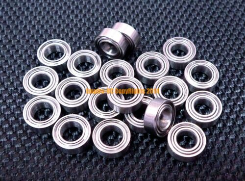 "440c Stainless Steel Metal Ball Bearing SR2zz R2zz 1//8/"" x 3//8/"" x 5//32/"" 25PCS"
