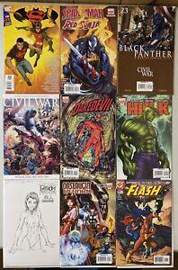 Michael-Turner-Comic-Lot-9-Issues-Marvel-amp-DC