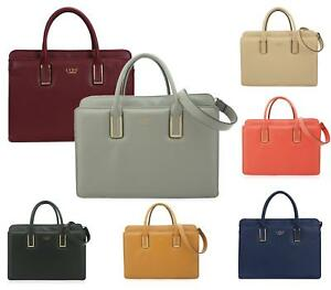 LADIES LARGE FAUX LEATHER BUCKET LYDC FASHION OFFICE TOTE BAGS SHOULDER HANDBAG