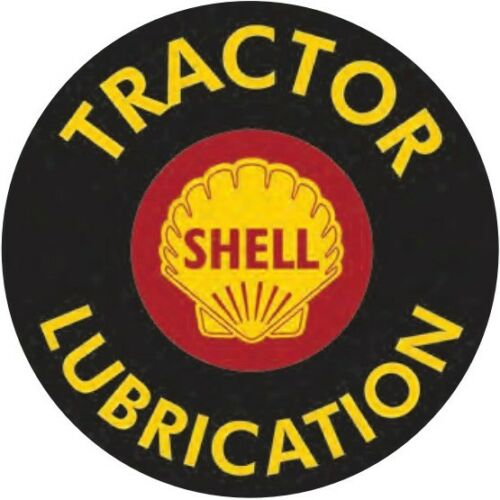 """Shell Tractor Lubrication 12/"""" Round Metal Tin Sign Novelty Retro Home Wall Decor"""