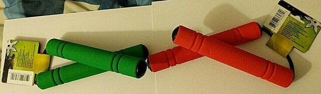 Flu Kids Home Ninja Toy Nunchucks NunChaku Foam /& Plastic Red New~~~~