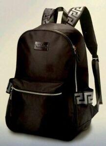 Versace Black Back Pack Ruck Sack Travel Bag For Women