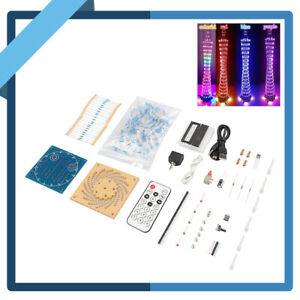 5V-DIY-Kits-Light-Cube-Electronic-Tower-Music-LED-Display-Remote-Control-Decor-Y