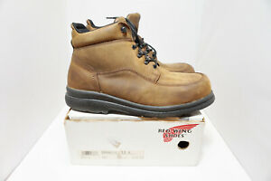 Men-039-s-Red-Wing-Steel-Toe-leather-work-boots-size-13-D-6662