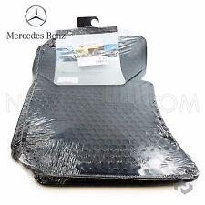 Mercedes W212 W218 Floor Mat Front & Rear Set All-Weather Black Genuine Q6680710
