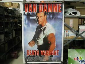 Death Warrant Vintage Original Movie Theater Lobby Display Poster Jean Van Damme