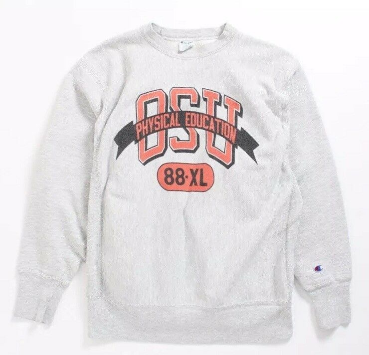 VTG 80s Champion Reverse Weave OSU Physical Education Sweatshirt  Herren Sz XL