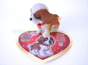Figurine-OTTO-ou-STELLA-le-Saint-Bernard-sa-carte-Puppy-in-my-Pocket-Serie
