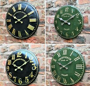 Outdoor-indoor-Garden-Wall-Station-Church-Clock-Tower-Clock-Hand-Painted