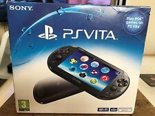 Sony PS Vita Slim Console Launch Edition PCH-2003 Crystal Black UK 3.60 FW NEW